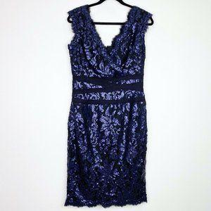 Tadashi Shoji Paillet Embroidered Lace Dress 12
